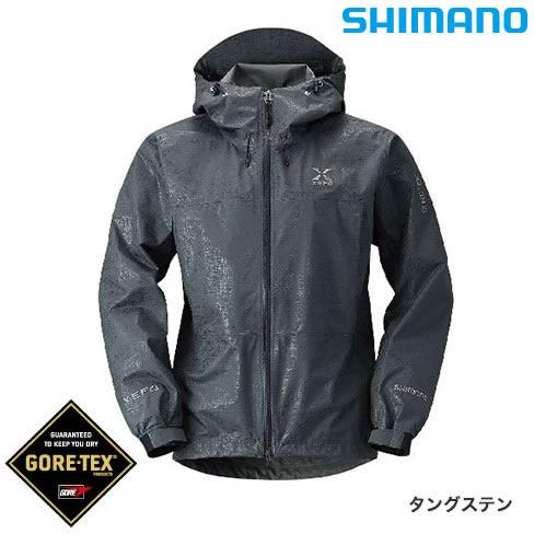 シマノ XEFO ゴアテックス ベーシックジャケット RA-27JR タングステン M~XL (レインウェア)