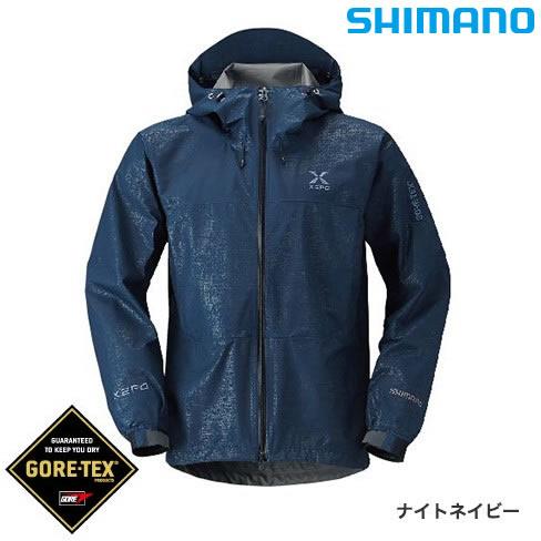 シマノ XEFO ゴアテックス ベーシックジャケット RA-27JR ナイトネイビー M~XL (レインウェア)