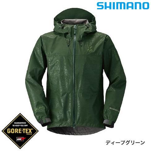 シマノ XEFO ゴアテックス ベーシックジャケット RA-27JR ディープグリーン M~XL (レインウェア)