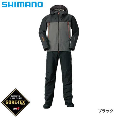シマノ ゴアテックス ベーシックスーツ RA-017R ブラック S~XL (レインウェア レインスーツ)