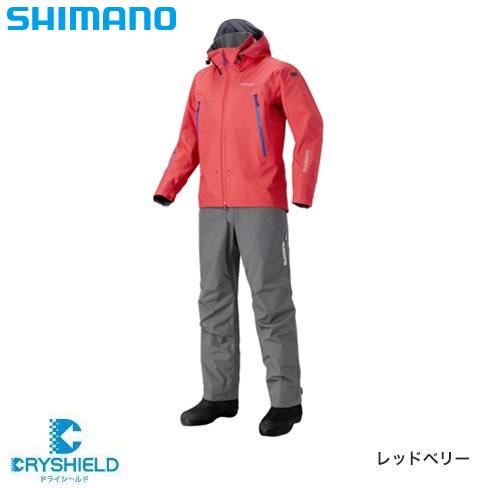 シマノ DSアドバンススーツ RA-025Q レッドベリー M~XL (レインウェア フィッシングウェア)