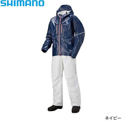 シマノ SS 3Dマリンスーツ RA-033R ネイビー XS~XL (レインウェア レインスーツ)