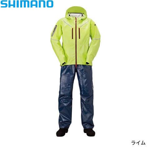 シマノ SS 3Dマリンスーツ RA-033R ライム M~XL (レインウェア レインスーツ)