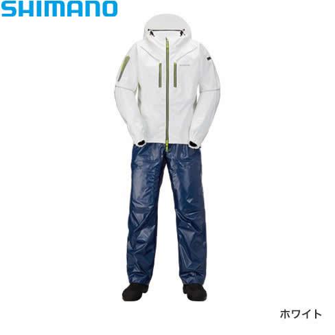 シマノ SS 3Dマリンスーツ RA-033R ホワイト XS~XL (レインウェア レインスーツ)