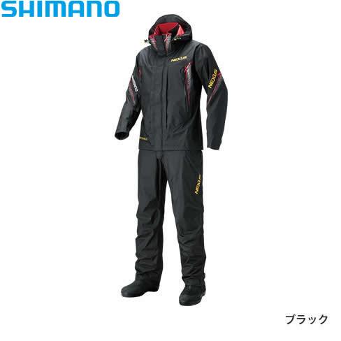 シマノ ネクサス DS レインスーツXT RA-118R ブラック M~XL (レインウェア レインスーツ)