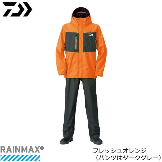 ダイワ レインマックス(R) レインスーツ DR-36008 フレッシュオレンジ M~3XL (レインウェア レインスーツ)