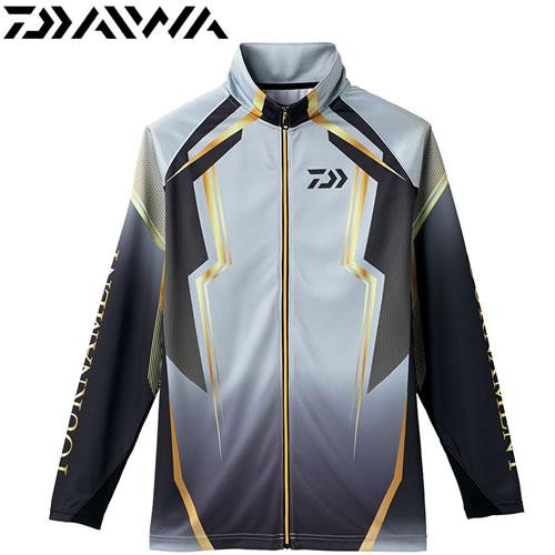 ダイワ トーナメント ドライフルジップ メッシュシャツ DE-73008 スチールグレー M~XL (フィッシングウェア)