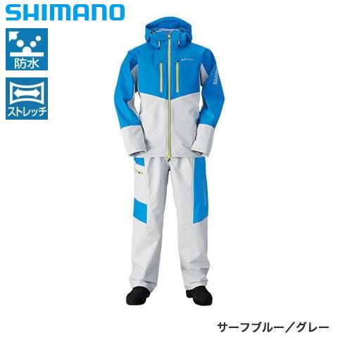 シマノ マリンライトスーツ サーフブルー/グレー RA-034N M~XL (レインウェア)