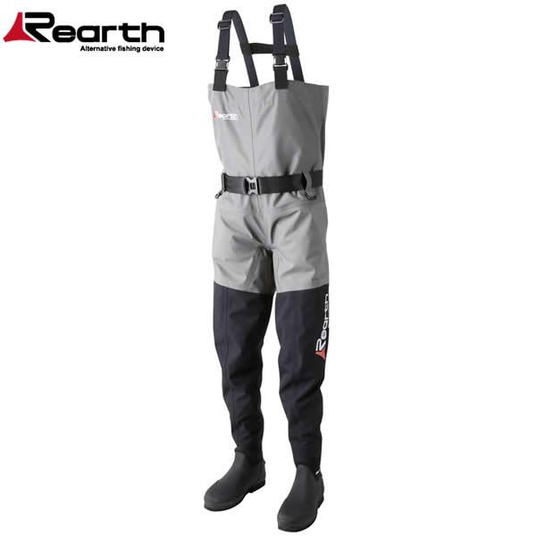 リアス (Rearth) ブーツウェーダートライ バージョン2 FWD-1600 GRY/GBLK (透湿ウェーダー)