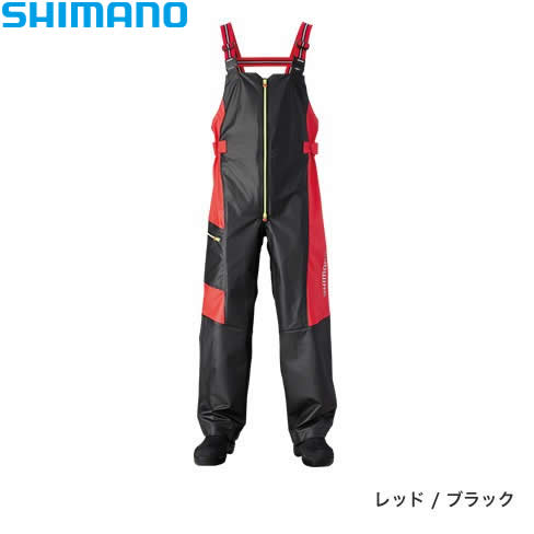 シマノ マリンサロペット RA-03PN レッド/ブラック XS~XL (レインウェア)