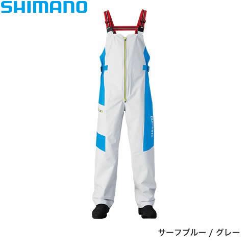 シマノ マリンサロペット RA-03PN サーフブルー/グレー M~XL (レインウェア)