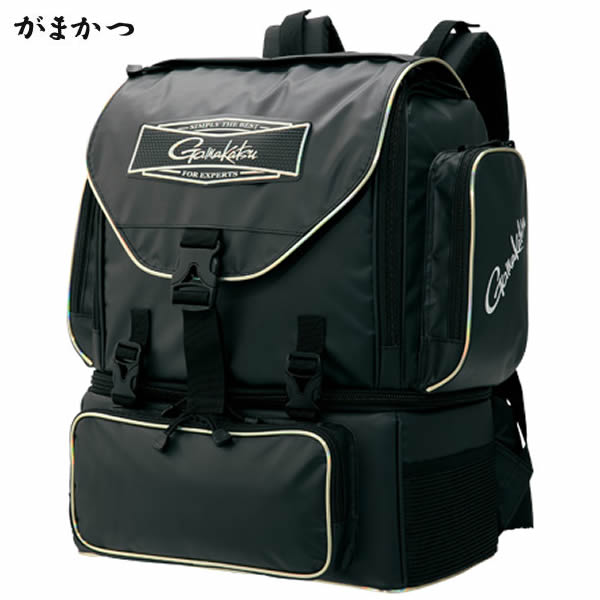 がまかつ 底物用デイバッグ GB-349 ブラック 37L (タックルバッグ)