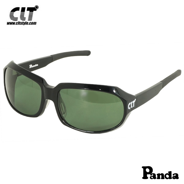 CLT Panda パンダ ブラック/グリーンスモーク(サングラス 偏光グラス)