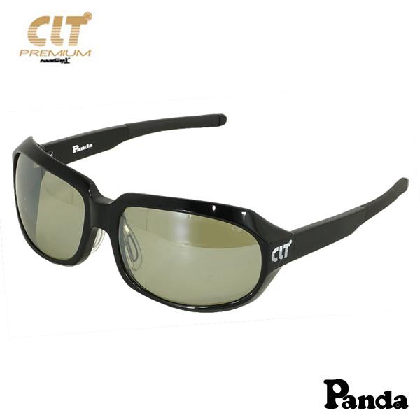 CLT プレミアム Panda パンダ ブラック/ハンターグリーン/シルバーミラー(サングラス 偏光グラス)