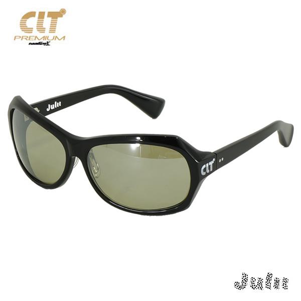 CLT プレミアム ジュリー Julii ブラック/ハンターグリーン/シルバーミラー(サングラス 偏光レンズ)