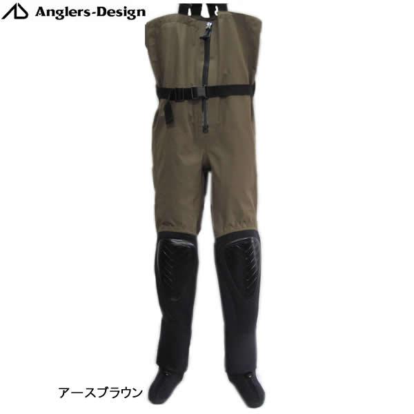 アングラーズデザイン ハイブリットチェストウェーダー3 ADW-12 アースブラウン (ナイロンウェーダー)