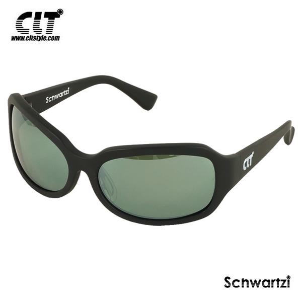 CLT シュワルツィ マットブラック/グリーンスモーク/シルバーミラー(サングラス 偏光グラス) schwartzi