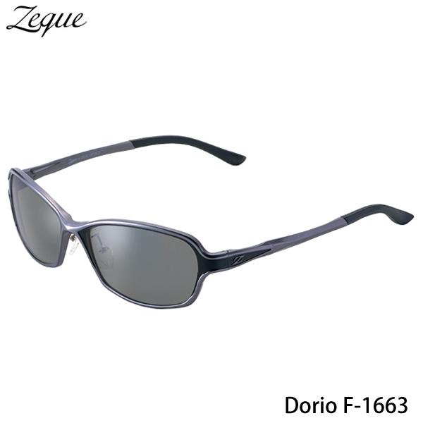 ZEAL (ジール) Dorio F-1663 ガンメタル/ブラック (サングラス 偏光グラス)