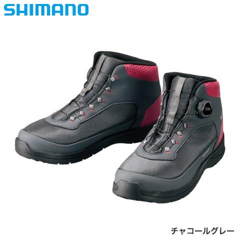 シマノ ドライシールド デッキラジアルフィットシューズ HW チャコールグレー FS-082R (デッキシューズ)