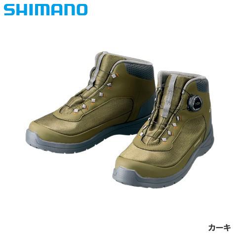 シマノ ドライシールド デッキラジアルフィットシューズ HW カーキ FS-082R (デッキシューズ)