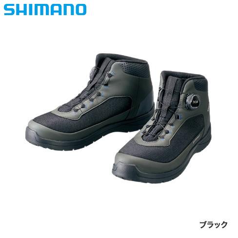 シマノ ドライシールド デッキラジアルフィットシューズ HW ブラック FS-082R (デッキシューズ)
