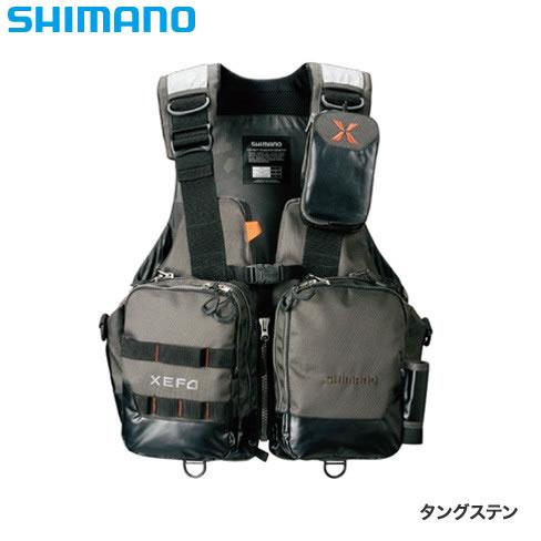 シマノ XEFO アクトゲームベスト VF-274R タングステン (ライフジャケット)