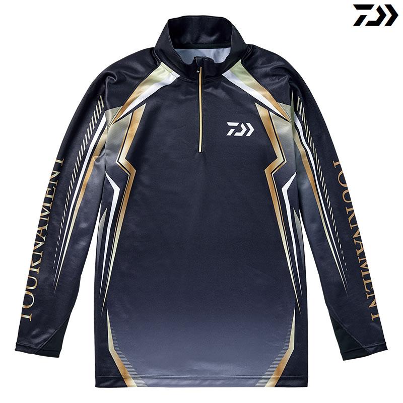 ダイワ トーナメント ドライシャツ DE-77008T ブラック M~XL (フィッシングシャツ)