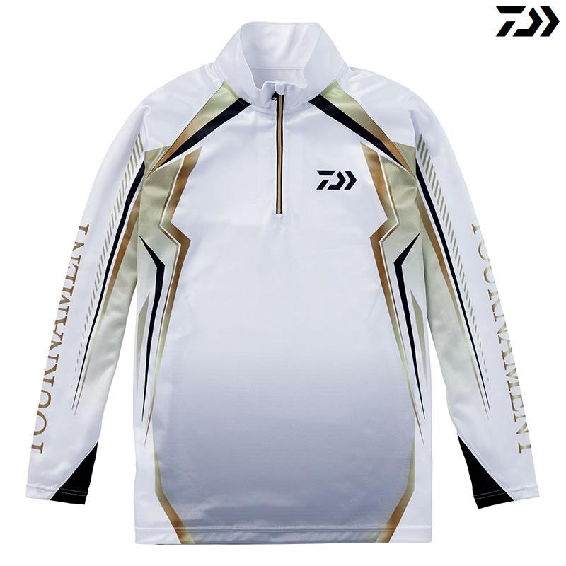 ダイワ トーナメント ドライシャツ DE-77008T ホワイト M~XL (フィッシングシャツ)