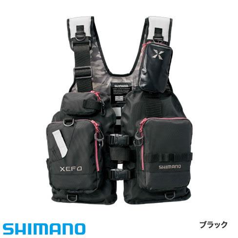 シマノ XEFO ゲームベスト VF-278R フリーサイズ ブラック (ライフジャケット)