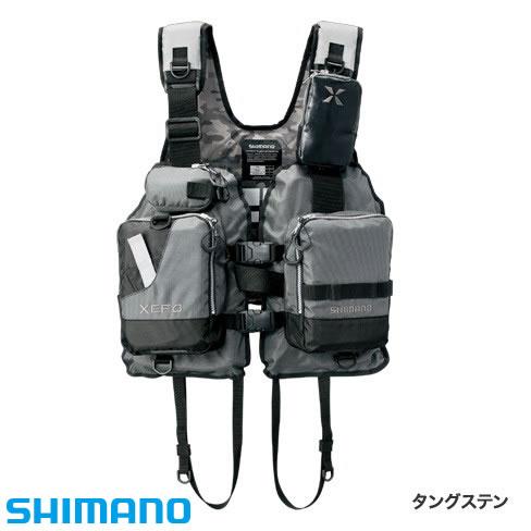 シマノ XEFO ゲームベスト VF-278R フリーサイズ タングステン (ライフジャケット)
