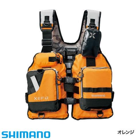 シマノ XEFO ゲームベスト VF-278R フリーサイズ オレンジ (ライフジャケット)