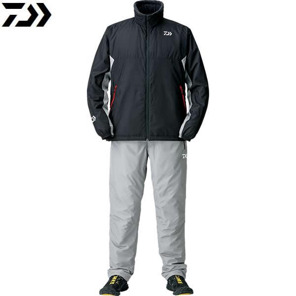 ダイワ ウォームアップスーツ ブラック DI-52008 (防寒着 防寒ウエア)