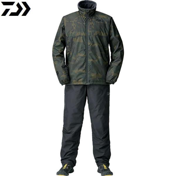 ダイワ ウォームアップスーツ グリーンカモ DI-52008 (防寒着 防寒ウエア)
