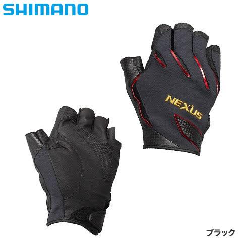 シマノ ネクサス防風フィットグローブ5 ブラック GL-182R (防寒グローブ フィッシンググローブ 手袋)