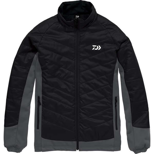 ダイワ ハイブリッドジャケット ブラック DJ-29008 M~XL (防寒着 防寒ウエア)