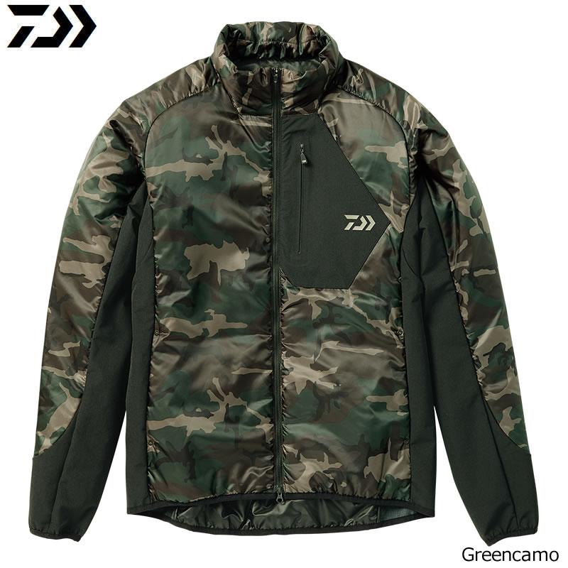 ダイワ プリマロフト ライトジャケット グリーンカモ DJ-24008 M~XL (防寒着 防寒ウエア)