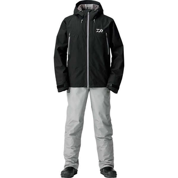 ダイワ ゴアテックス ファブリクス ウィンタースーツ ブラック DW-1908 M~XL (防寒着 防寒ウエア 防水防寒上下セット)