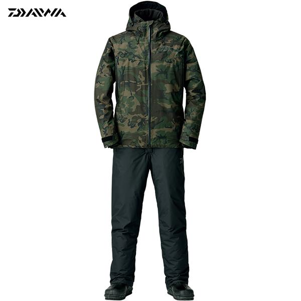 ダイワ レインマックス ウィンタースーツ グリーンカモ DW-3108 S~XL (防寒着 防寒ウエア 防水防寒上下セット)