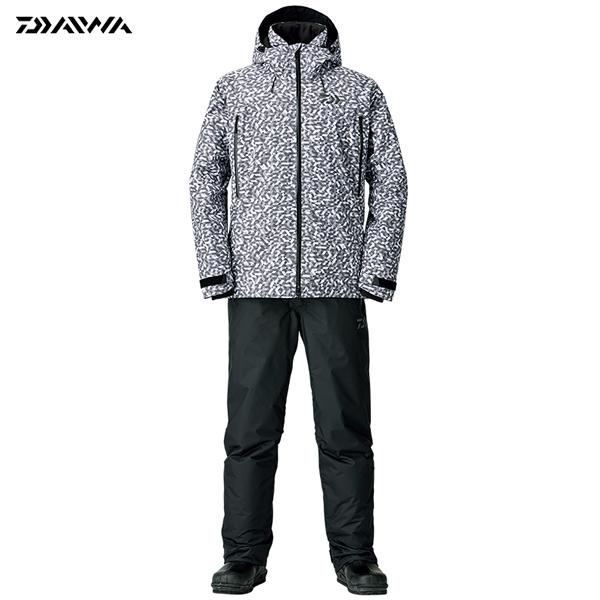 ダイワ レインマックス ウィンタースーツ チャコールミラー DW-3108 S~XL (防寒着 防寒ウエア 防水防寒上下セット)