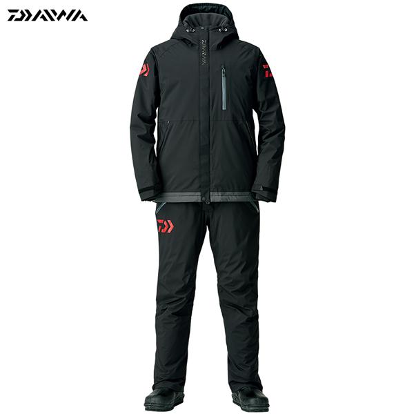 ダイワ レインマックス エクストラハイロフト ウィンタースーツ ブラック DW-3208 M~XL (防寒着 防寒ウエア 防水防寒上下セット)
