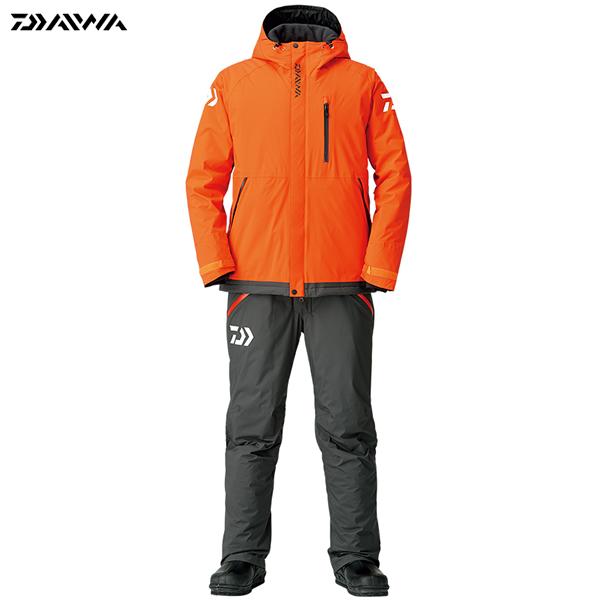 ダイワ レインマックス エクストラハイロフト ウィンタースーツ オレンジ DW-3208 M~XL (防寒着 防寒ウエア 防水防寒上下セット)