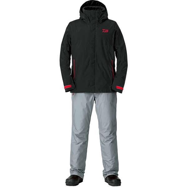ダイワ レインマックス ウインタースーツ ブラック DW-35008 S~XL (防寒着 防寒ウエア 防水防寒上下セット)