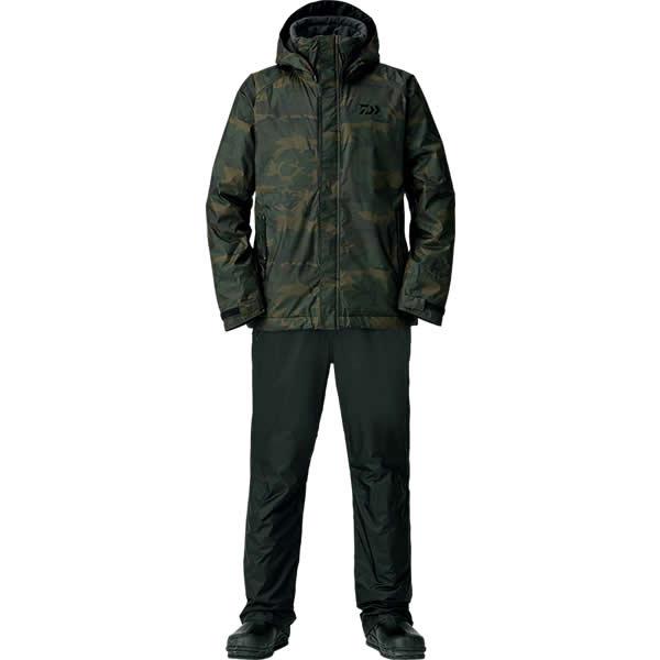 ダイワ レインマックス ウインタースーツ グリーンカモ DW-35008 S~XL (防寒着 防寒ウエア 防水防寒上下セット)