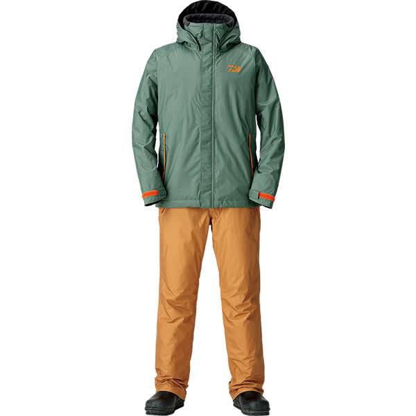 ダイワ レインマックス ウインタースーツ アーミカーキ DW-35008 M~XL (防寒着 防寒ウエア 防水防寒上下セット)