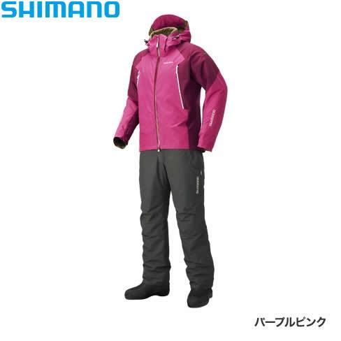 シマノ ゴアテックス ベーシックウォームスーツ パープルピンク RB-017R XS~XL (防寒着 防寒ウエア 防水防寒上下セット)