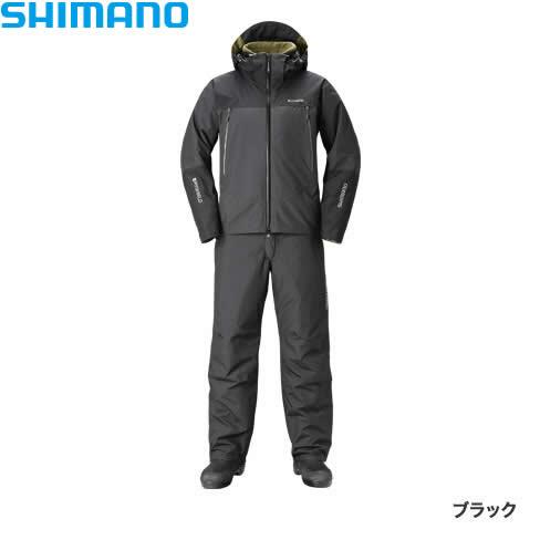 シマノ DSアドバンスウォームスーツ ブラック RB-025R S~XL (防寒着 防寒ウエア 防水防寒上下セット)