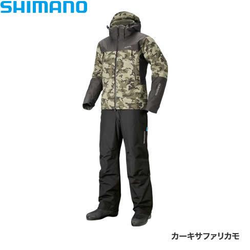 シマノ DSアドバンスウォームスーツ カーキサファリカモ RB-025R M~XL (防寒着 防寒ウエア 防水防寒上下セット)
