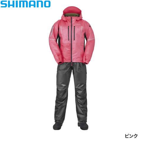 シマノ SS 3Dマリンコールドウェザースーツ ピンク RB-033R M~XL (防寒着 防寒ウエア 防水防寒上下セット)