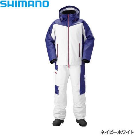 シマノ マリンコールドウェザースーツ EX ネイビーホワイト RB-035N M~XL (防寒着 防寒ウエア 防水防寒上下セット)