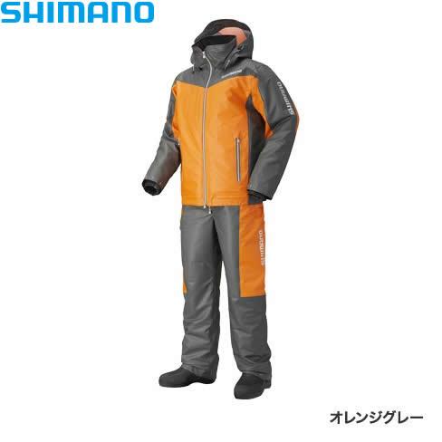 シマノ マリンコールドウェザースーツ EX オレンジグレー RB-035N S~XL (防寒着 防寒ウエア 防水防寒上下セット)